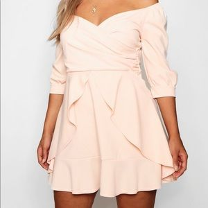 New With Tags! Off Shoulder Skater Dress